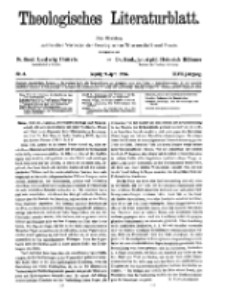 Theologisches Literaturblatt, 9. April 1926, Nr 8.