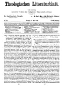 Theologisches Literaturblatt, 21. Mai 1926, Nr 11.