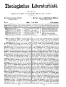 Theologisches Literaturblatt, 18. Juni 1926, Nr 13.