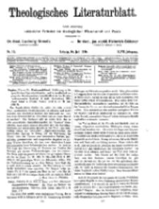 Theologisches Literaturblatt, 16. Juli 1926, Nr 15.