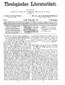 Theologisches Literaturblatt, 10. September 1926, Nr 19.