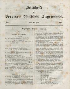 Zeitschrift des Vereins deutscher Ingenieure, Bd. VI, Mai 1862, H. 5.