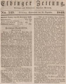 Elbinger Zeitung, No. 149 Sonnabend, 16. Dezember 1843