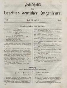 Zeitschrift des Vereins deutscher Ingenieure, Bd. VII, Juni 1862, H. 6.