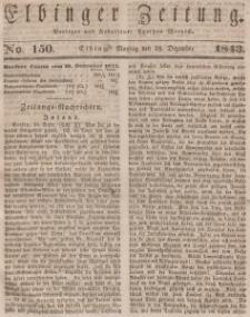 Elbinger Zeitung, No. 150 Montag, 18. Dezember 1843