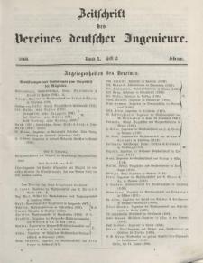 Zeitschrift des Vereins deutscher Ingenieure, Bd. X, Februar 1866, H. 2.