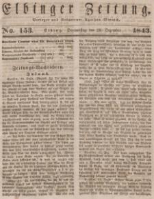 Elbinger Zeitung, No. 153 Donnerstag, 28. Dezember 1843