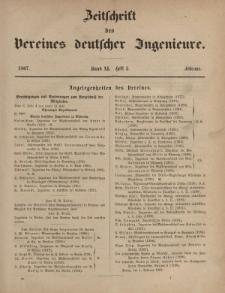 Zeitschrift des Vereins deutscher Ingenieure, Bd. XI, Februar 1867, H. 2.