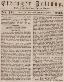 Elbinger Zeitung, No. 154 Sonnabend, 30. Dezember 1843