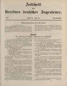Zeitschrift des Vereins deutscher Ingenieure, Bd. XI, Dezember 1867, H. 12.