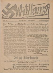 Der Wahlkampf Nr. 1, 3. März 1932