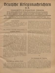 Deutsche Kriegsnachrichten (D.K.), Mittwoch, 8. November 1916, Nr 4.