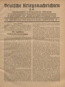 Deutsche Kriegsnachrichten (D.K.), Freitag, 10. November 1916, Nr 5.