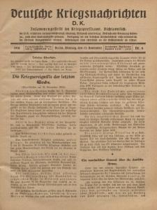 Deutsche Kriegsnachrichten (D.K.), Montag, 13. November 1916, Nr 6.