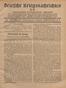 Deutsche Kriegsnachrichten (D.K.), Freitag, 17. November 1916, Nr 8.