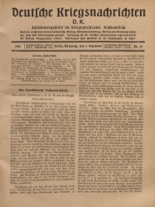 Deutsche Kriegsnachrichten (D.K.), Mittwoch, 6. Dezember 1916, Nr 15.