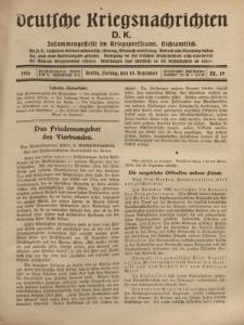 Deutsche Kriegsnachrichten (D.K.), Freitag, 15. Dezember 1916, Nr 19.