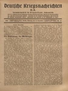 Deutsche Kriegsnachrichten (D.K.), Montag, 18. Dezember 1916, Nr 20.