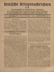 Deutsche Kriegsnachrichten (D.K.), Mittwoch, 3. Januar 1917, Nr 25.