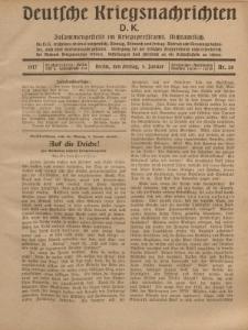 Deutsche Kriegsnachrichten (D.K.), Freitag, 5. Januar 1917, Nr 26.