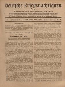 Deutsche Kriegsnachrichten (D.K.), Freitag, 12. Januar 1917, Nr 29.
