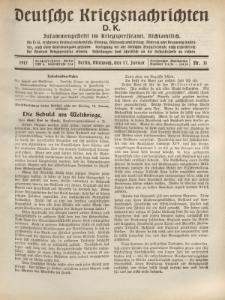 Deutsche Kriegsnachrichten (D.K.), Mittwoch, 17. Januar 1917, Nr 31.