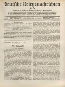 Deutsche Kriegsnachrichten (D.K.), Freitag, 19. Januar 1917, Nr 32.