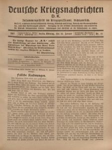 Deutsche Kriegsnachrichten (D.K.), Montag, 22. Januar 1917, Nr 33.