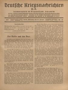 Deutsche Kriegsnachrichten (D.K.), Mittwoch, 24. Januar 1917, Nr 34.