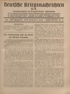 Deutsche Kriegsnachrichten (D.K.), Freitag, 26. Januar 1917, Nr 35.