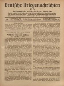 Deutsche Kriegsnachrichten (D.K.), Montag, 29. Januar 1917, Nr 36.