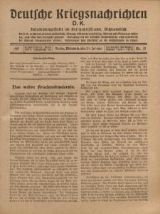 Deutsche Kriegsnachrichten (D.K.), Mittwoch, 31. Januar 1917, Nr 37.