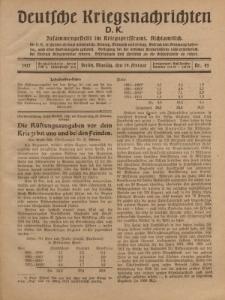 Deutsche Kriegsnachrichten (D.K.), Montag, 19. Februar 1917, Nr 45.