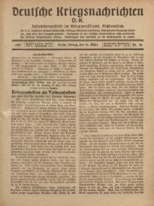 Deutsche Kriegsnachrichten (D.K.), Freitag, 16. März 1917, Nr 56.