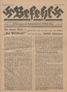 Befehl Nr. 8, 14. Mai 1932