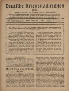 Deutsche Kriegsnachrichten (D.K.), Freitag, 27. April 1917, Nr 72.