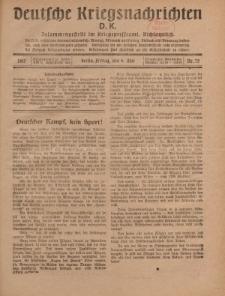 Deutsche Kriegsnachrichten (D.K.), Freitag, 4. Mai 1917, Nr 75.