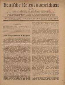 Deutsche Kriegsnachrichten (D.K.), Mittwoch, 9. Mai 1917, Nr 77.