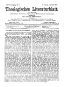 Theologisches Literaturblatt, 2. Januar 1903, Nr 1.