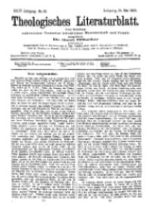 Theologisches Literaturblatt, 15. Mai 1903, Nr 20.