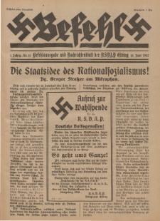 Befehl Nr. 13, 18. Juni 1932