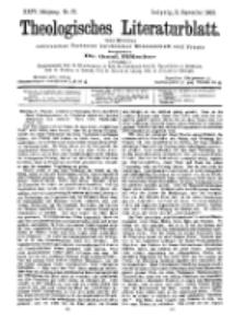 Theologisches Literaturblatt, 11. September 1903, Nr 37.