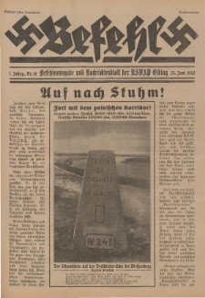 Befehl Nr. 14, 25. Juni 1932