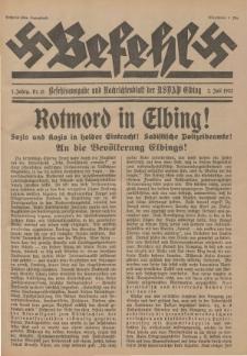 Befehl Nr. 15, 2. Juli 1932
