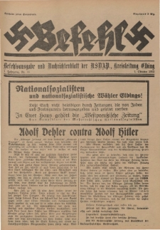 Befehl Nr. 16, 1. Oktober 1932