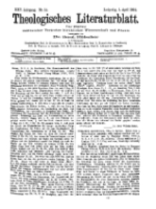 Theologisches Literaturblatt, 1. April 1904, Nr 14.
