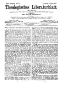 Theologisches Literaturblatt, 8. April 1904, Nr 15.