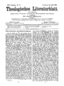 Theologisches Literaturblatt, 22. April 1904, Nr 17.