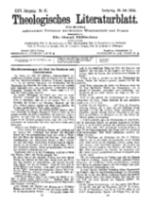 Theologisches Literaturblatt, 31. Juli 1904, Nr 31.