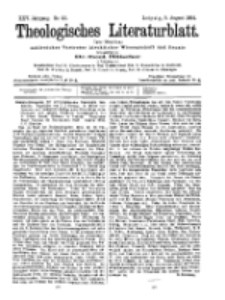 Theologisches Literaturblatt, 5. August 1904, Nr 32.
